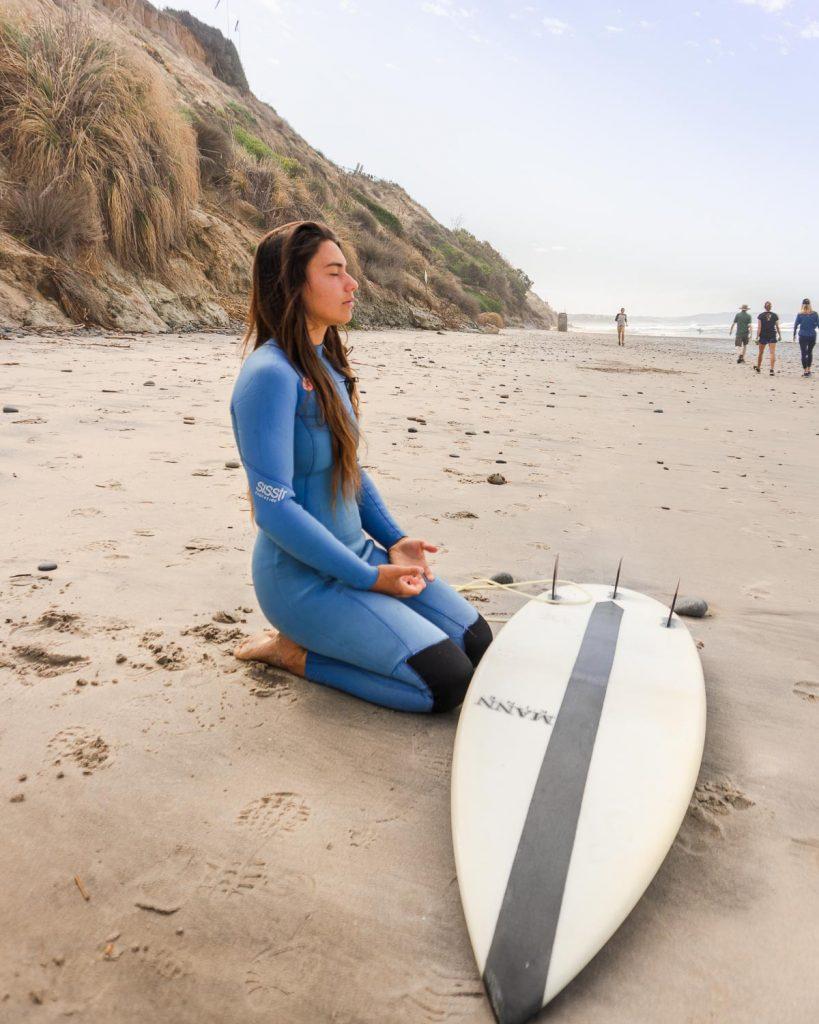 Visualization, meditation, breathwork for surfing